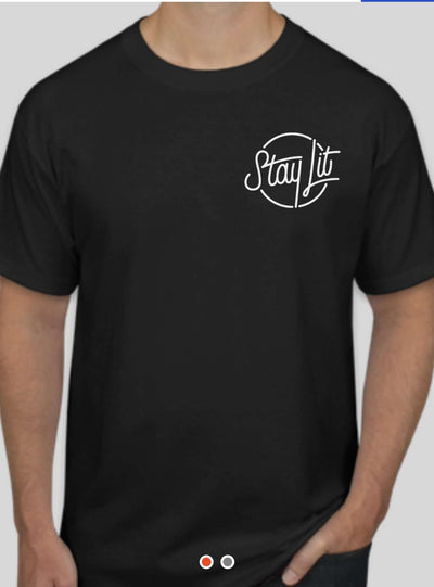 StayLit Black and White Logo T-Shirt
