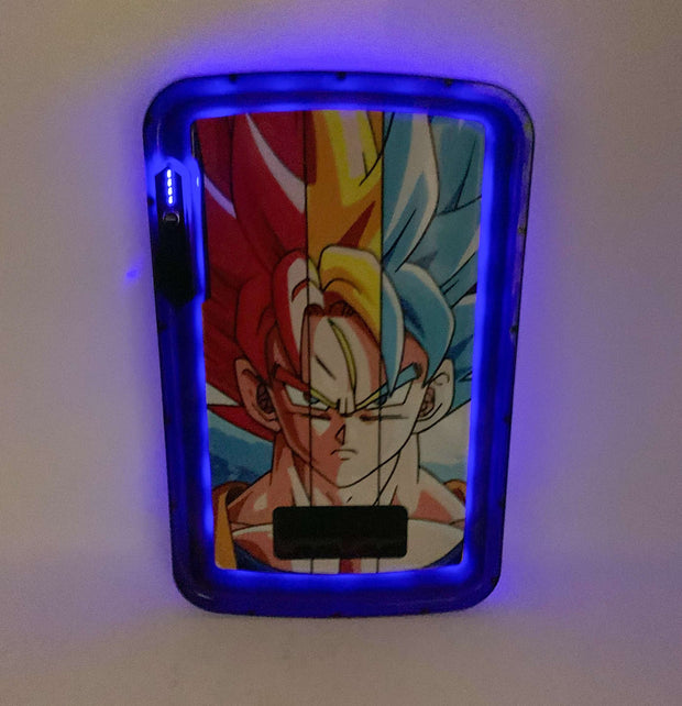 Super Saiyan LED Rolling Tray Featuring 7 Colors and Party Mode