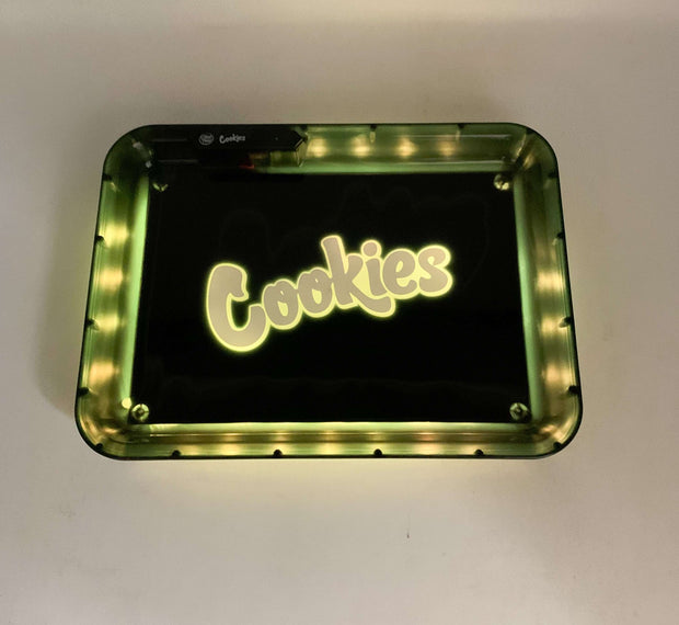 Glow Tray x Cookies Black LED Rolling Tray