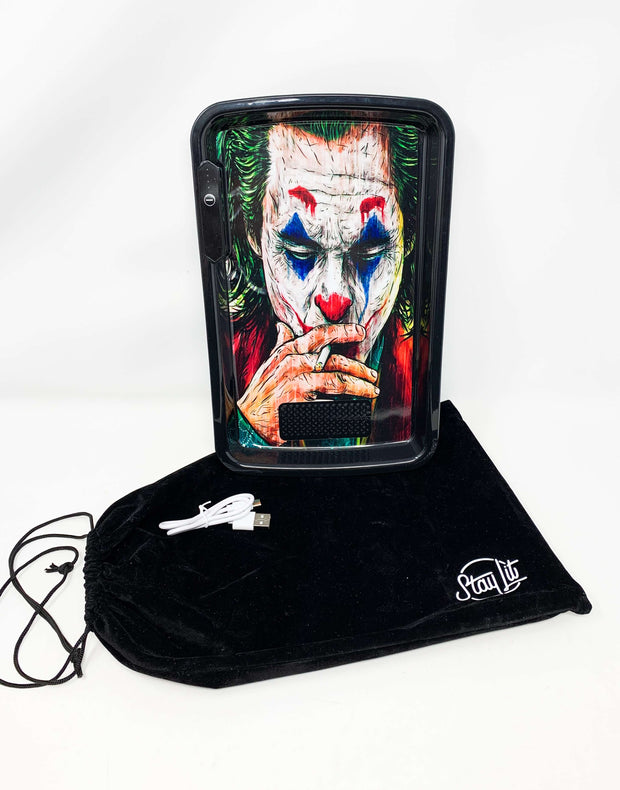 Joker Batman LED Rolling Tray Featuring 7 Colors and Party Mode