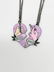 Crystal Best Buds Necklace