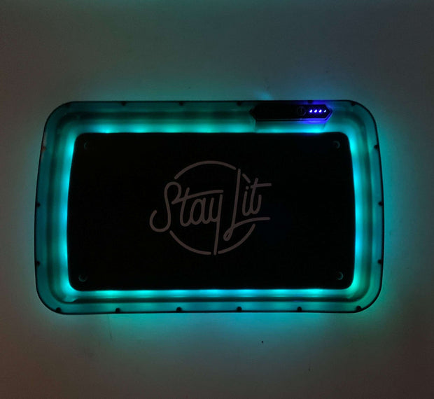 StayLit Pink Glitter LED Rolling Tray