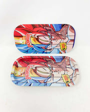 Backwoods Goku Super Saiyan Blue Red Yellow Rolling Tray