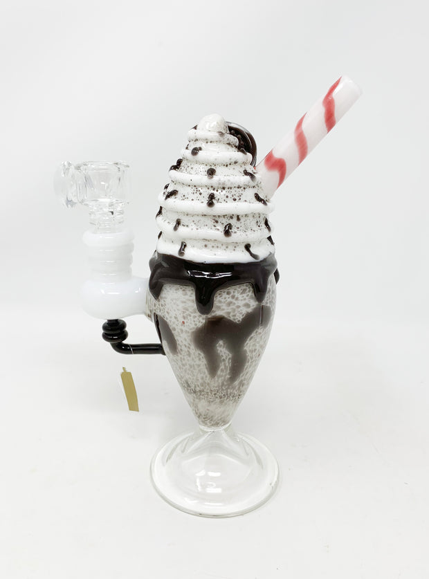 Empire Glassworks Chocolate Cookie Sundae Float Water Pipe/Dab Rig