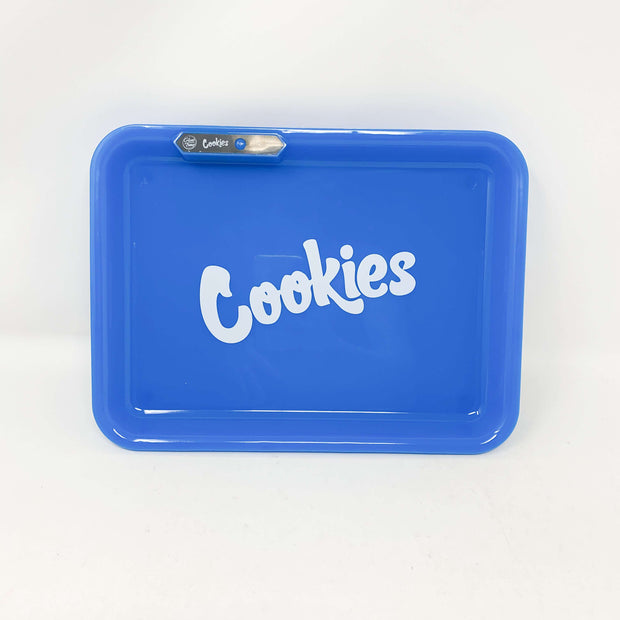 Glow Tray x Cookies Blue LED Rolling Tray