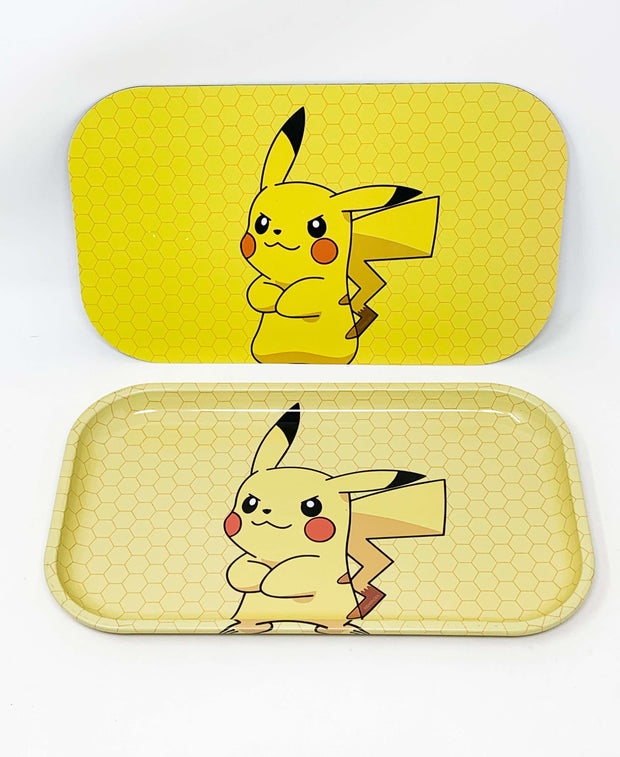 Pokemon Pikachu Yellow Magnetic Rolling Tray with Lid