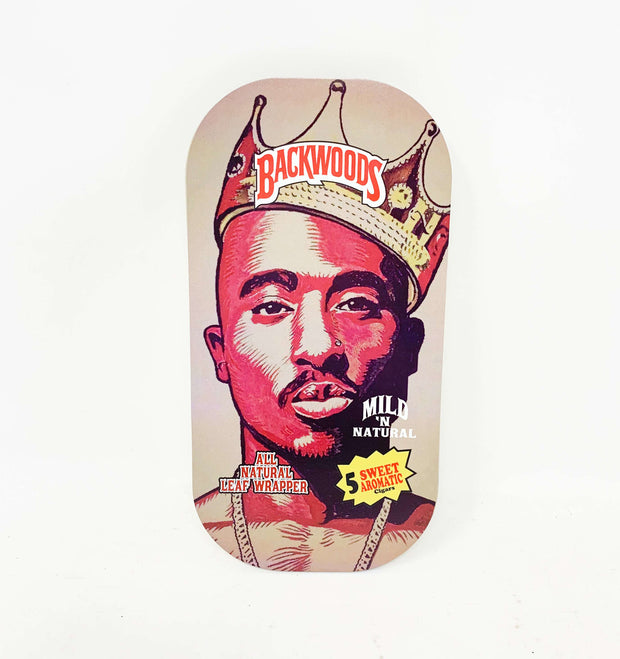 Backwoods Tupac Shakur Magnetic Rolling Tray with Lid