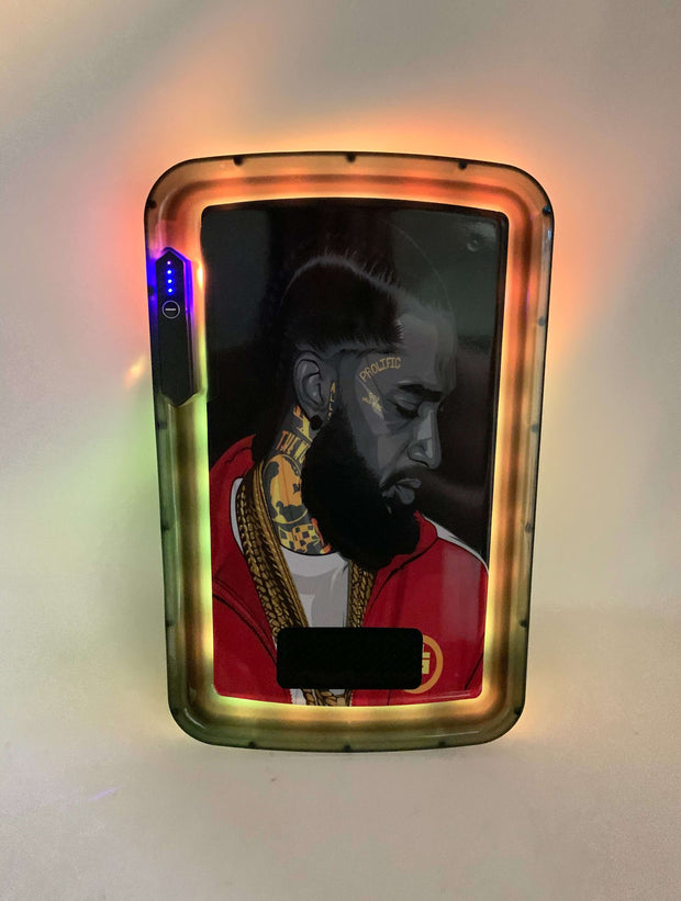 Nipsey Hustle Prolific LED Rolling Tray Featuring 7 Colors and Party Mode
