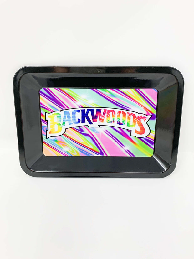 Backwoods Tie-Dye Rainbow Rolling Tray