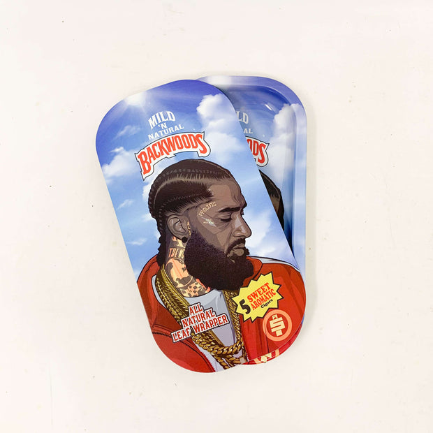 Backwoods Nipsey Hustle Prolific Blue Magnetic Rolling Tray with Lid