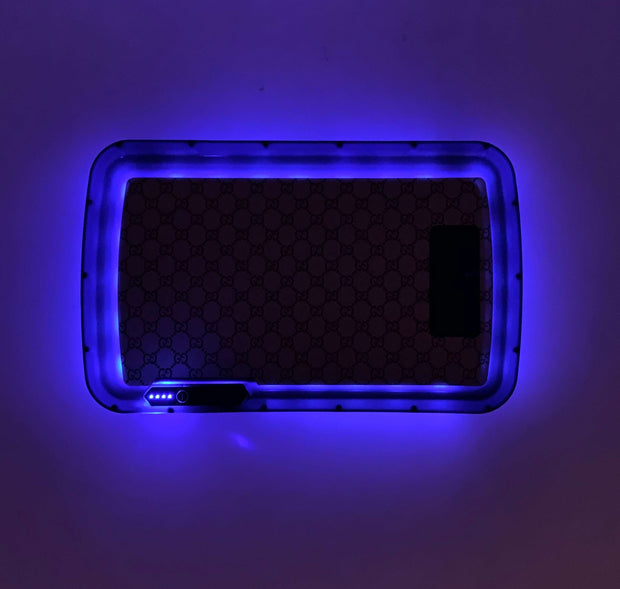 Brown G Designer LED Rolling Tray Featuring 7 Colors and Party Mode