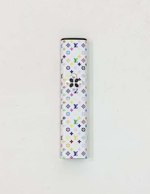 Pax Era Battery White Rainbow LV Swarovski Crystal Vape Pen