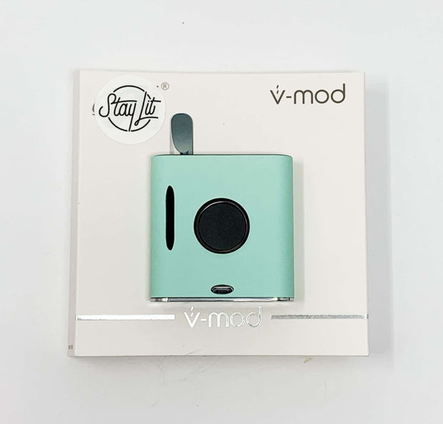 510 Threaded VMod Battery Matte Mint Glow In The Dark Starter Kit