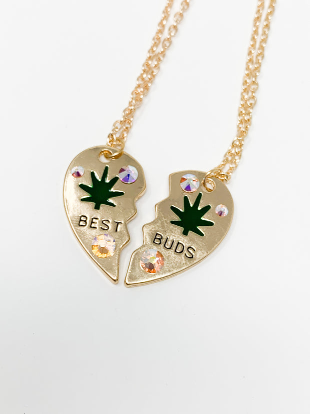 Swarovski Crystal Best Buds Gold Necklace