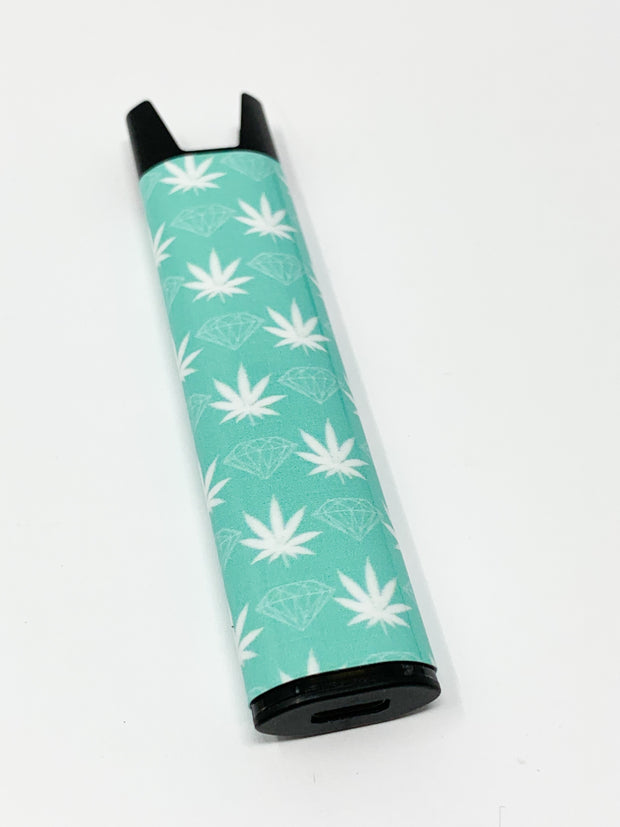 Stiiizy Pen Tiffany Blue Diamonds Weed Leaves Battery Vape Pen Starter Kit