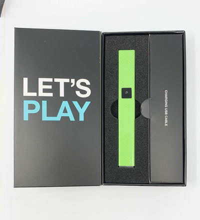 PlugPlay Lime Green Glitter Battery Starter Kit
