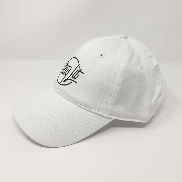 White & Black Dad Hat/Baseball Hat