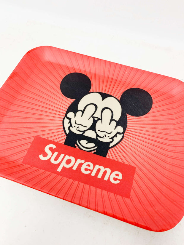 Red Sup Mouse Designer Rolling Tray