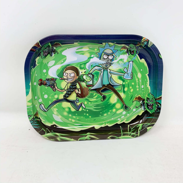 Wormhole Space Rick N Morty Metal Rolling Tray