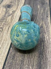 Blue Swirl Marble Head Glass Pipe