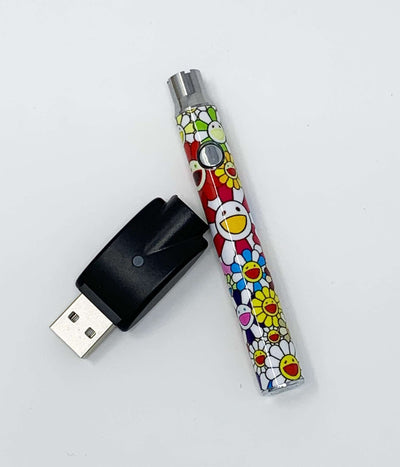 510 Threaded Battery Smiley Flowers Vape Pen