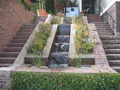staircase water feature