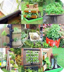 upcycled garden items