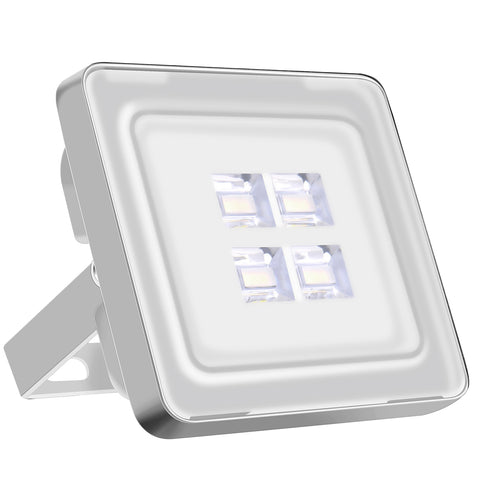 10W LED Flood Light, Daylight White, 110V, D6 - viugreum