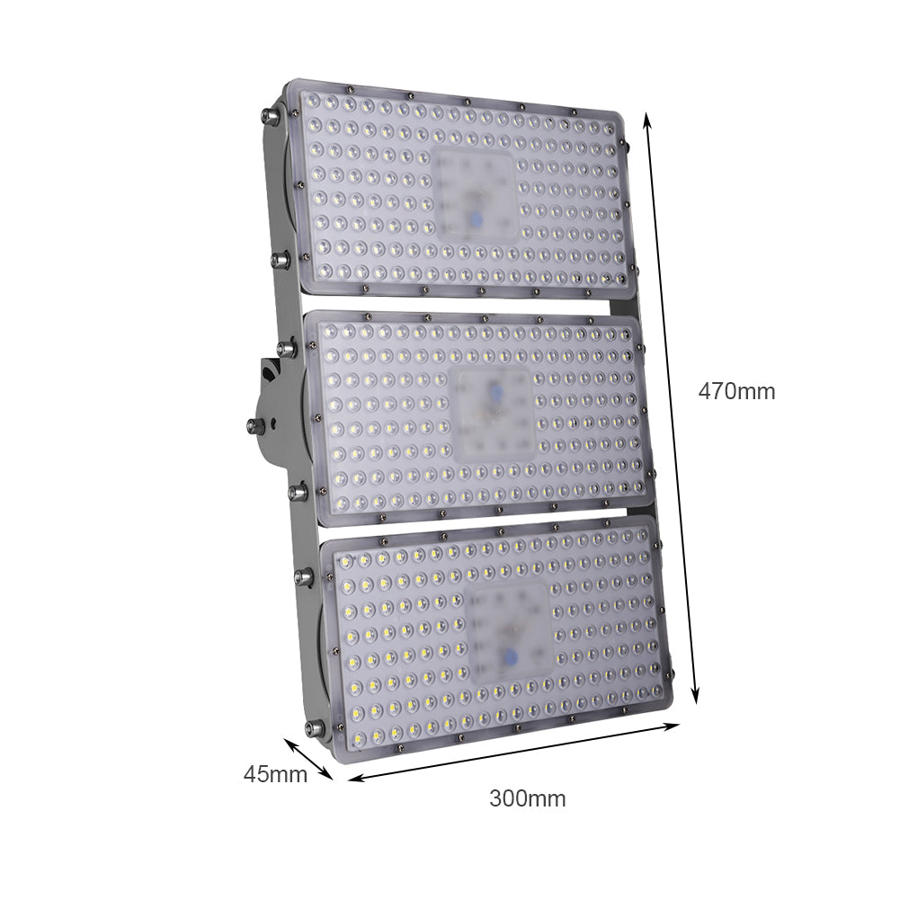 300W LED Flood Light, Warm White/Daylight White, 110V, D7 - viugreum