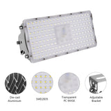 100W LED Flood Light, Daylight White, 110V, D7 - viugreum