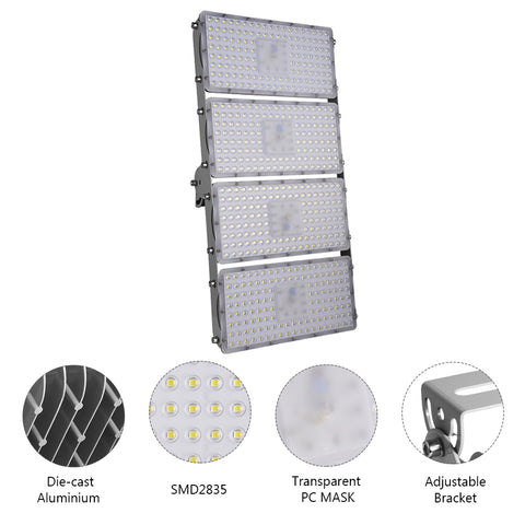 400W LED Flood Light, Warm White/Daylight White, 110V, D7 - viugreum