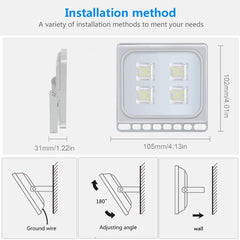 Viugreum 20W LED Flood Lights Outdoor, Waterproof IP67 Work Lights, 110V 2000LM Daylight White(6000K), Super Bright Security Floodlights Wall Lights Landscape Lights with US Plug - viugreum