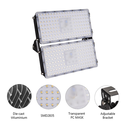 200W LED Flood Light, Warm White/Daylight White, 110V, D7 - viugreum