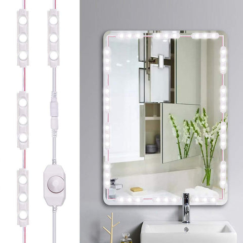 60 LEDs Led Vanity Mirror Lights Kit 10FT Daylight White - viugreum
