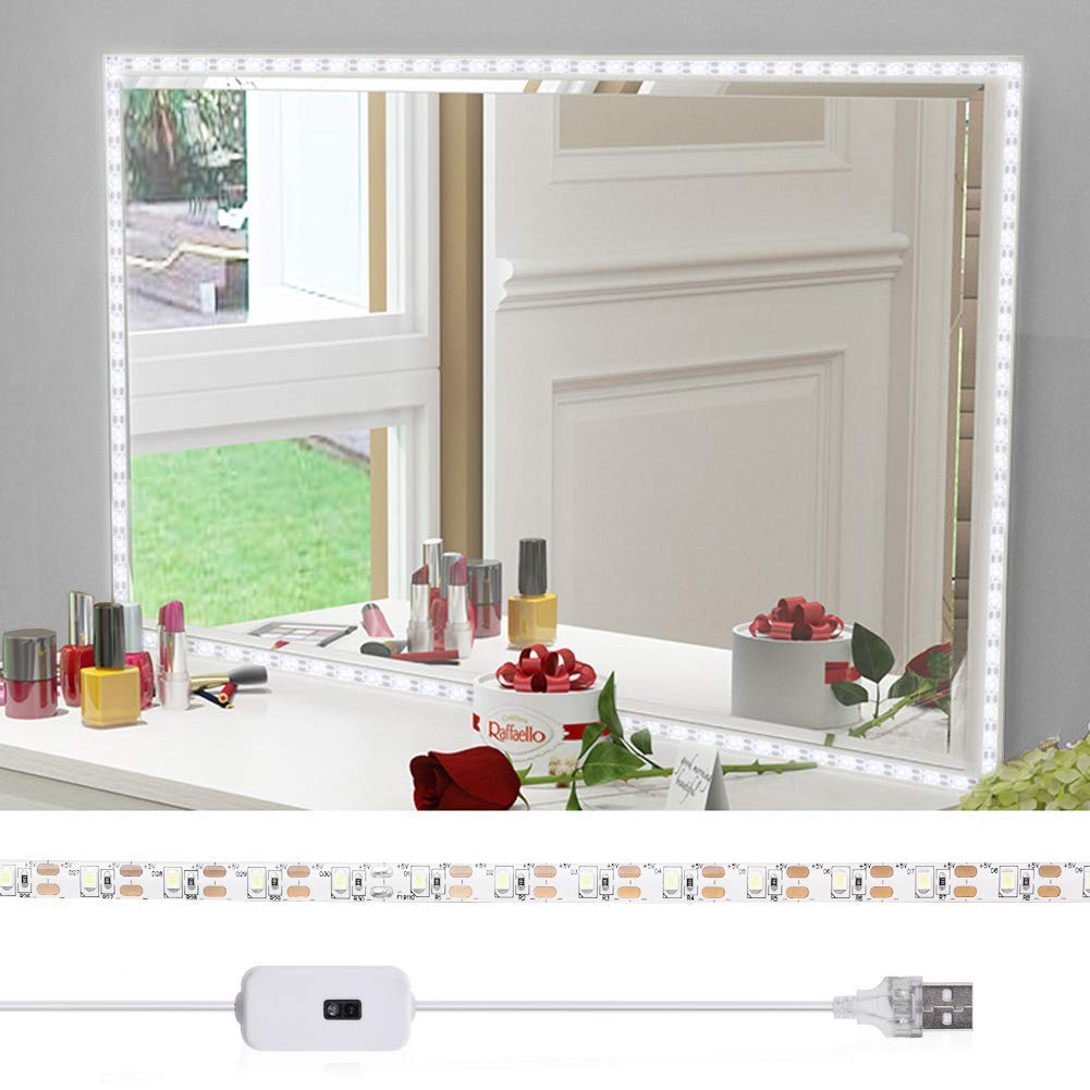 Led Vanity Mirror Light with Gesture Sensing Dimmer and USB Port - viugreum