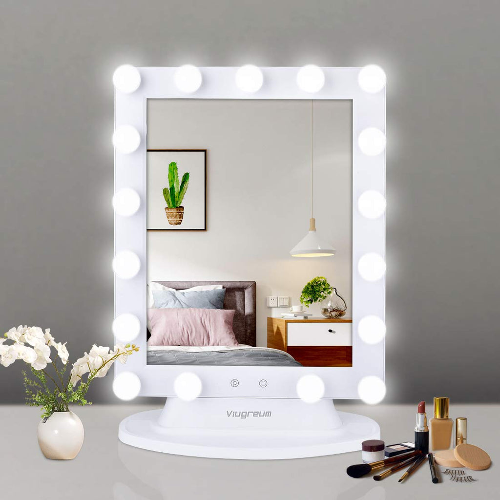 Hollywood Vanity Mirror with Smart Touch Control Dimmer, Smart Touch Control - viugreum