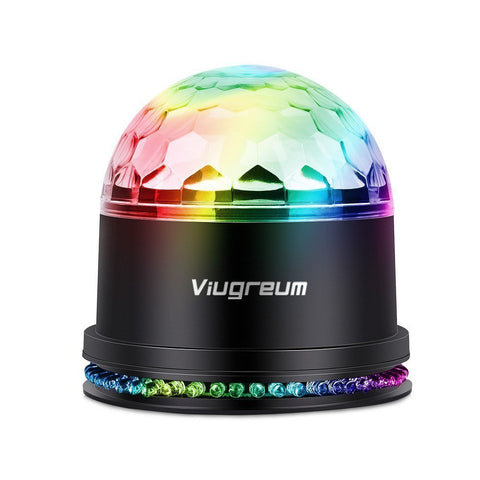 6 Color Disco Ball Stage Light, US Plug - viugreum