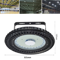 LED UFO High Bay Light, Daylight White, 110V(100W/150W/200W/250W) - viugreum