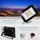 100W LED Flood Light, Warm White, 110V, D5 - viugreum