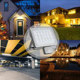 Viugreum 50W LED Flood Light Outdoor, Motion Sensor Security Light, Waterproof IP65, 6000LM, Cold White(6000-6500K), Super Bright PIR Security Lights, for Garden, Yard, Road, Square - viugreum