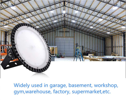 300W LED High Bay Light for Garage Work Shop Industrial Warehouse Factory US