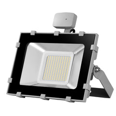 100W LED Motion Sensor Flood Light, Daylight White, 110V, D5 - viugreum