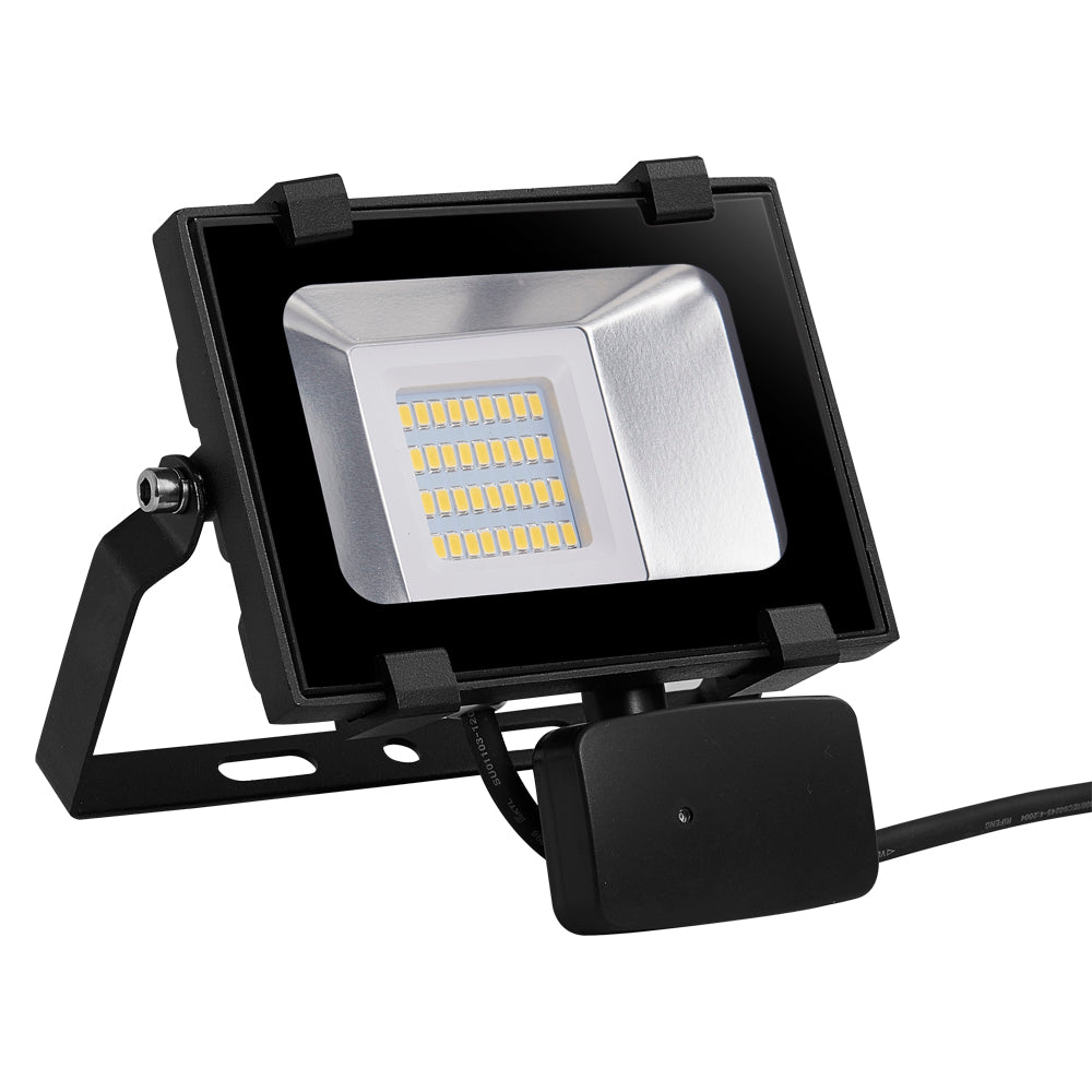 20W LED Motion Sensor Flood Light, Warm White, 110V, D5 - viugreum