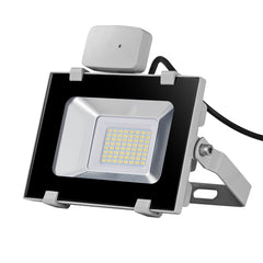30W LED Motion Sensor Flood Light, Daylight White, 110V, D5 - viugreum