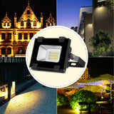 10W LED Outdoor Flood Lights, Warm White, 110V - viugreum