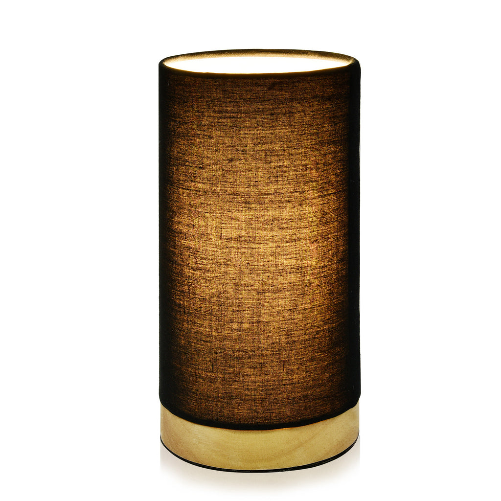 Wooden Table Lamp, VDL1004, US Plug(Round-Black) - viugreum