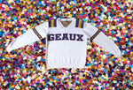 GEAUX White LSU Jersey Sweater