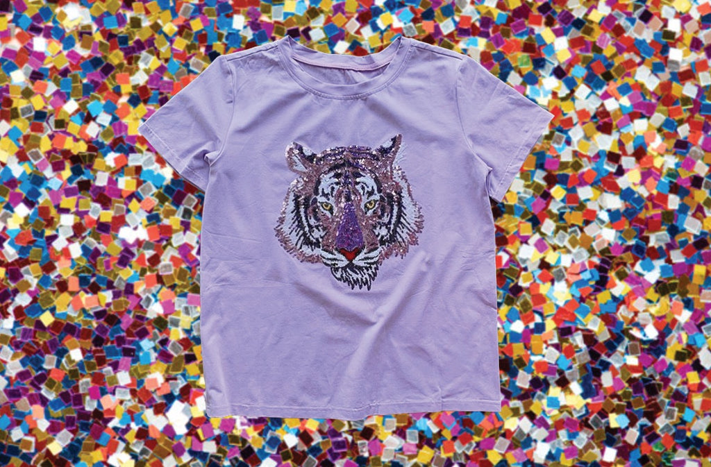 Lavender Tiger Head Tee
