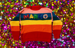 CUSTOM Name Rainbow Sequin Sweater