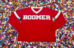 BOOMER Red Oklahoma University (OU) Sooners Jersey Sweater